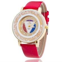 Fashion Luxury RINNADY Brand Watch Women Leather Quartz Ladies Watches Hour montre femme relogio feminino Crystal Dress Watch