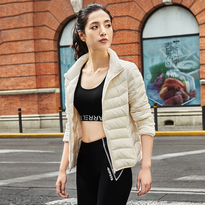 New arrival 2019 autumn winter stand collar thin   down   jacket women slim short   down     coat   outerwear