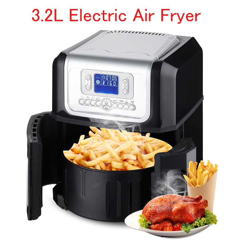 3.2L Electric Air Fryer / Automatic Fryer / French Fries Machine Household Deep Fryers XK301 1pc gas type stainless steel food fryer french fries fryer potato deep fryer deep fat gas fryer