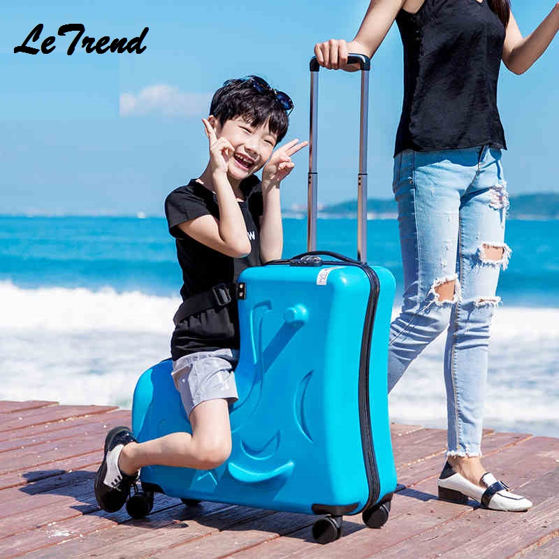 6a3c4cf44 PC Rode Children Rolling Luggage Spinner 20 inch Wheels Suitcase Kids Cabin Trolley  Student Travel Bag