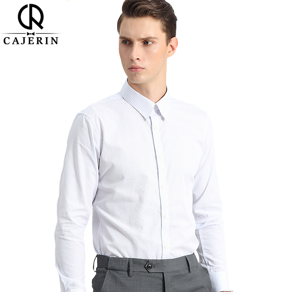 Cajerin Long Sleeved Dress Shirt Slim Fit Male