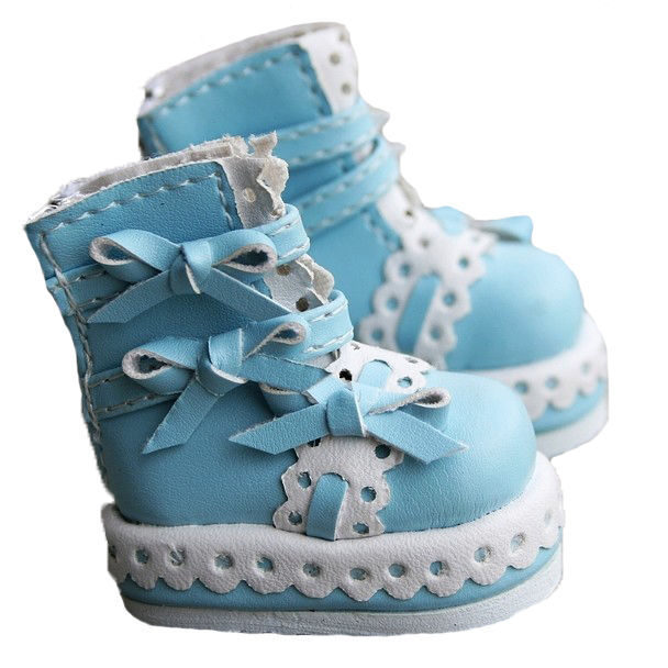 [wamami] 14# Baby Blue 1/6 SD AOD DOD BJD Dollfie PU Leather Shoes ~ 4.7cm* [wamami] 14 pink 1 6 sd dod aod bjd dollfie leather outfit shoes 4 5cm