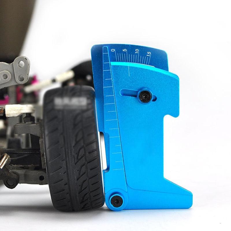 CNC Adjustable Ruler Adjusting RC Car Height & Wheel Rim Camber Measure 15 Degrees Alloy