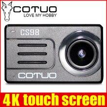 D'origine COTUO CS98 4 K 24fps Ultra HD Notavek 96660 Action Étanche Caméra 2.45 «Écran tactile À Distance Sports go mini SJ DV 6pro