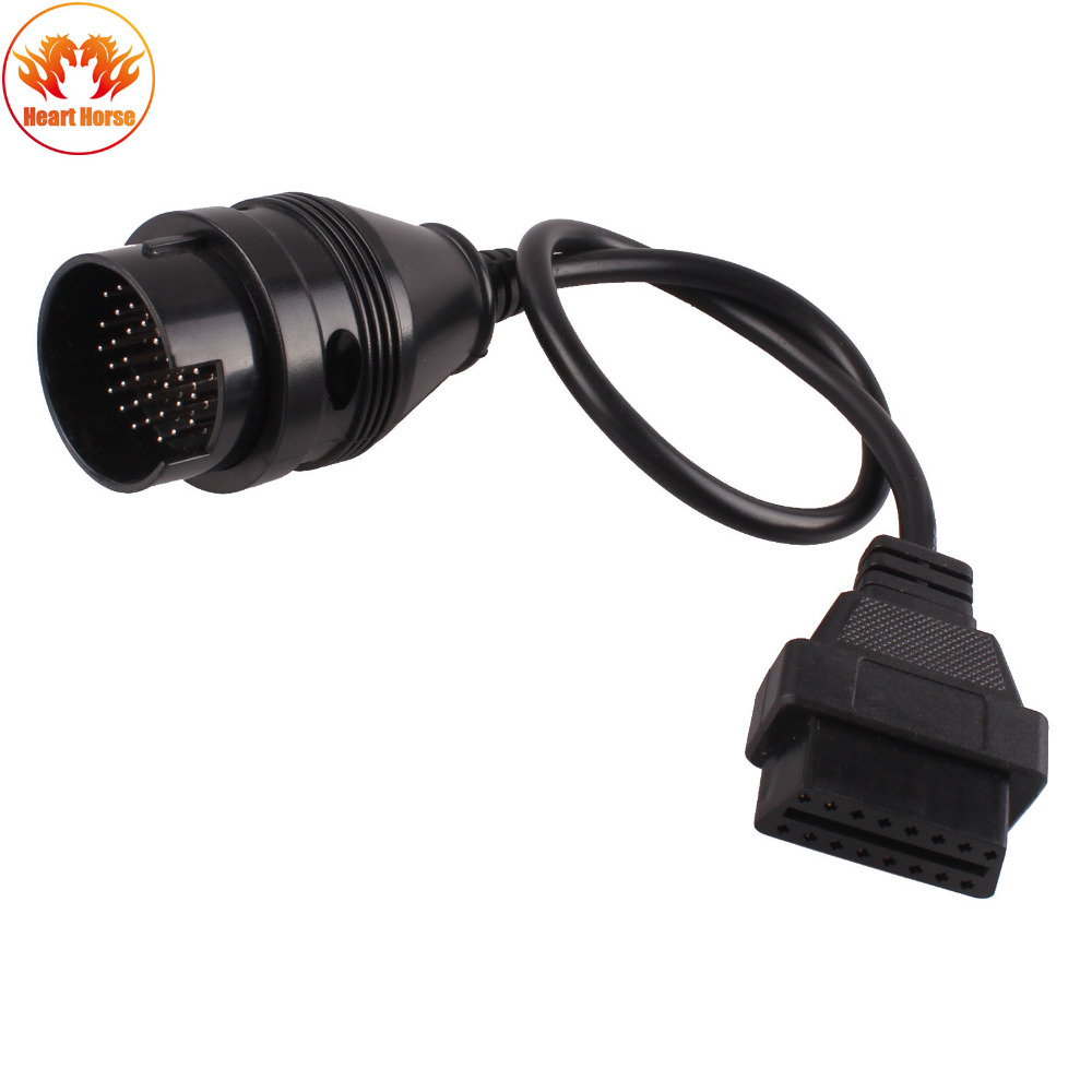New arrival obd2 obdii 38 pin to 16 pin diagnostic adapter connector cable for benz car diagnostic cables connectors care tools
