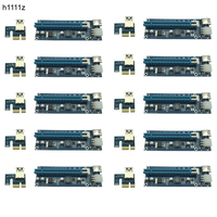 10pcs Lot Upgraded PCI E 1X To 16X Express Riser Card PCI Extender 60cm USB3 0