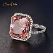 Ring-Jewelry Diamonds Gemstone Wedding-Engagement Pink Sapphire Cocktail Onerain Women