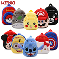 KEENICI Cartoon Kids Plush Backpacks Super Spider Mini Schoolbag Kitty Cute Backpacks Children School Bags Girls Boys Backpack