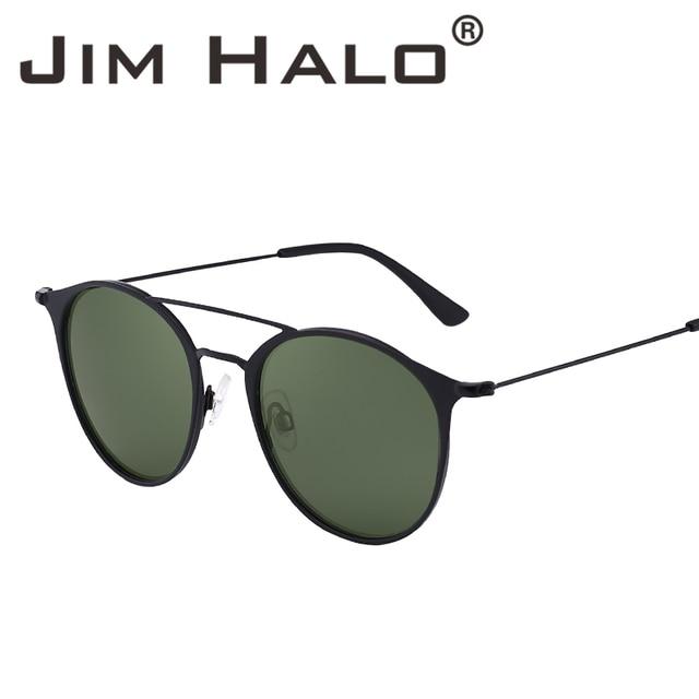 27ece873a8 Jim Halo Polarized Lightweight Oval Round Metal Frame Sunglasses Driving Men  Women Retro Vintage Fashion UV400 Lens Sun Glasses