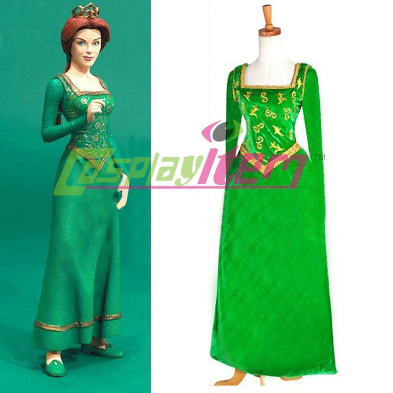 Shrek costume Shrek Princess Fiona Dress Costume Anime Cosplay ...