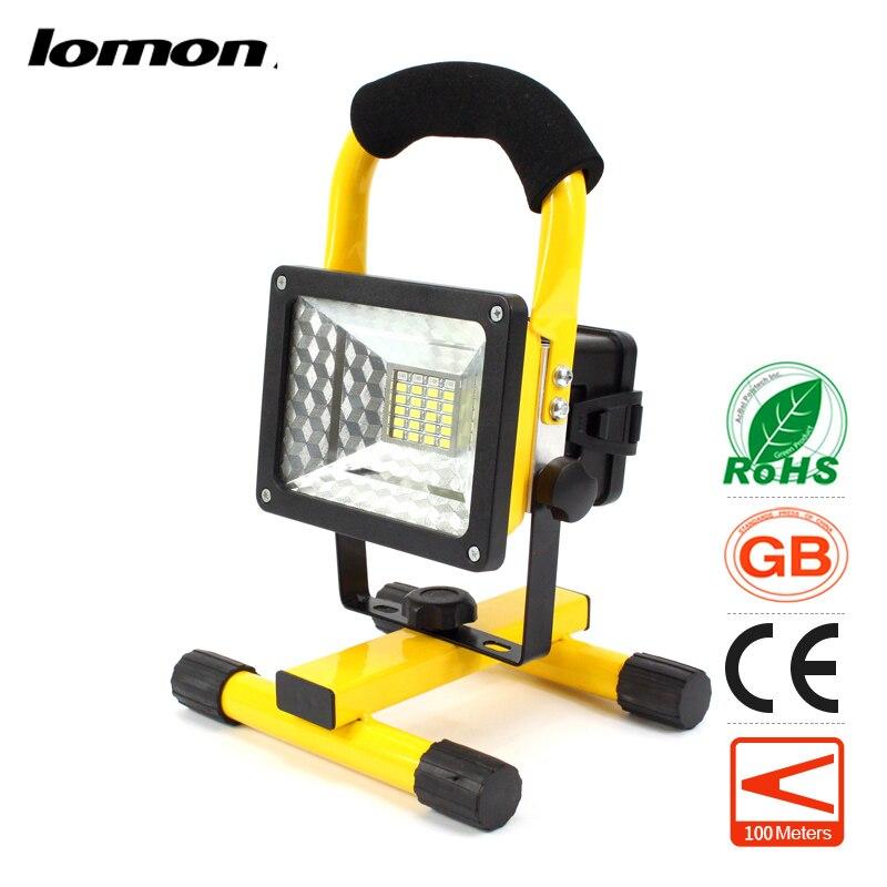 24 LED Flood Lights Portable Tool Work Light Rechargeable Floodlight Handle Emergency Spotlight Color Change 10W Garden Ground