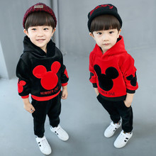 Baby Boy's Clothing Sets Brand Sport Pullover Set Fashion Kid 2 piece 100% cotton Suits Set Mickey Tracksuit chlidren clothes