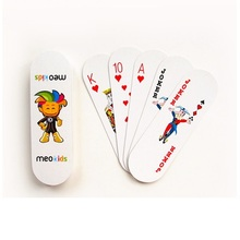 12.8X3.8CM  Special Shaped Oval Paper Poker deck Nonstandard
