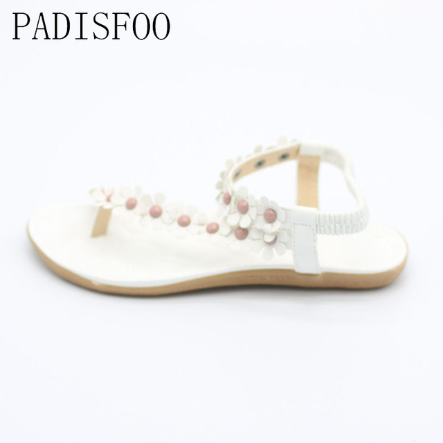 [C] [H]2017 New Summer Bohemian Sandals Shoes Flexible Flat Shoes With Sunflower Flat Slippers Sandals for Women .DFGD-669