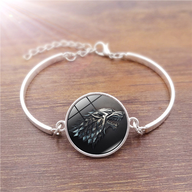 """House Stark"" Jewelry Glass Bracelet 4"