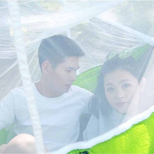 Image 5 - Portable Mosquito Net Camping Hammock Single Double Ultralight Parachute Hunting Hammocks Sleeping Hanging Bed Outdoor Furniture