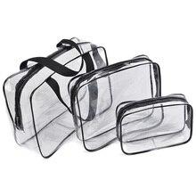 Transparent PVC Bags Travel Organizer Bath Wash Makeup Bag Women Beautician Cosmetic Bag Pouch Wash Bags Handbags Case