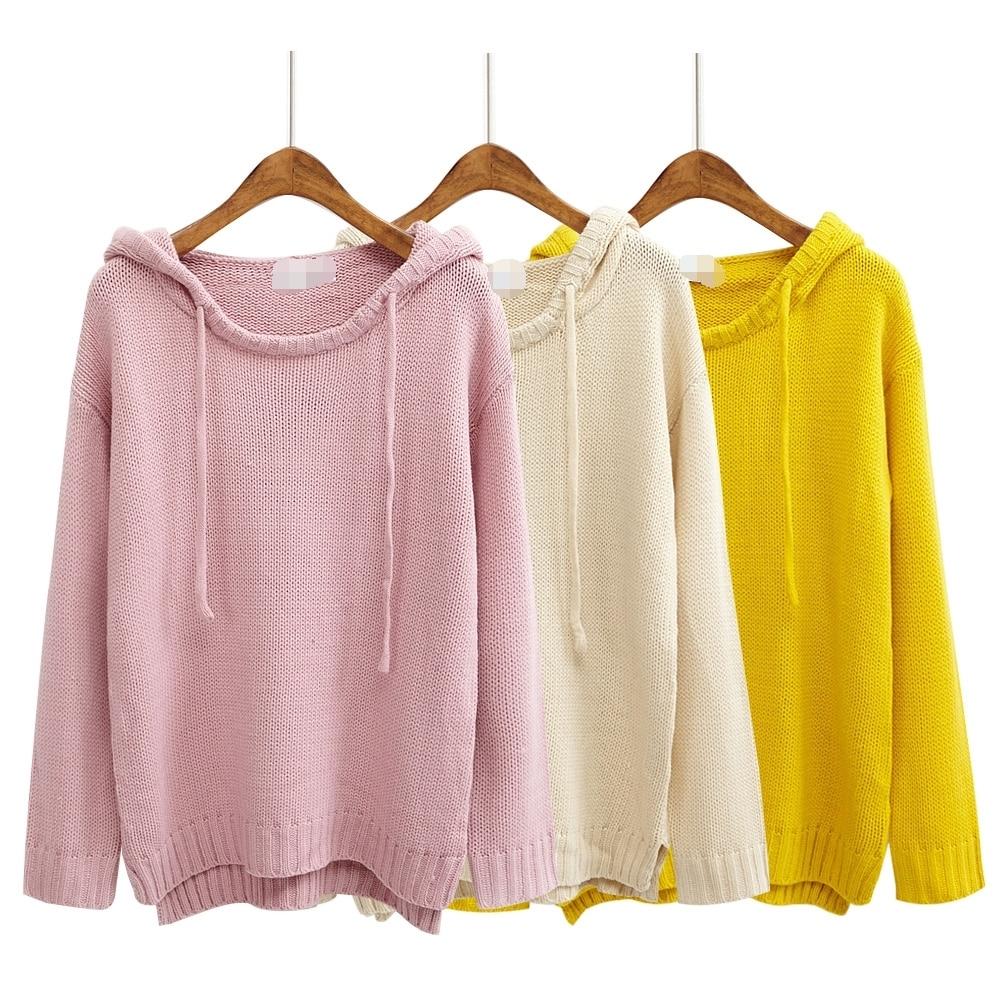 retro women sweaters and pullovers cute harajuku style 2017 korean ...
