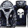 USA SIZE New The Punisher Hoodies Warm Male Coat Jackets Casual Hoodies Winter Men Thicken Superhero