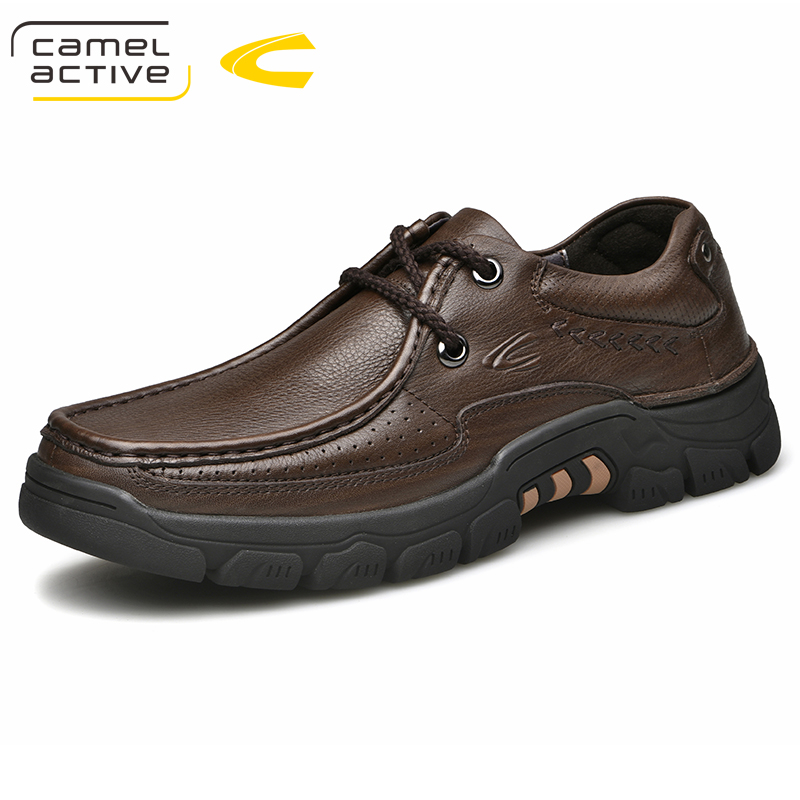 Camel Active New Handmade Outdoor Casual Shoes Men Cow Leather Dress Autumn Spring Walking Shoes for Men Creeper Oxfords flats недорго, оригинальная цена