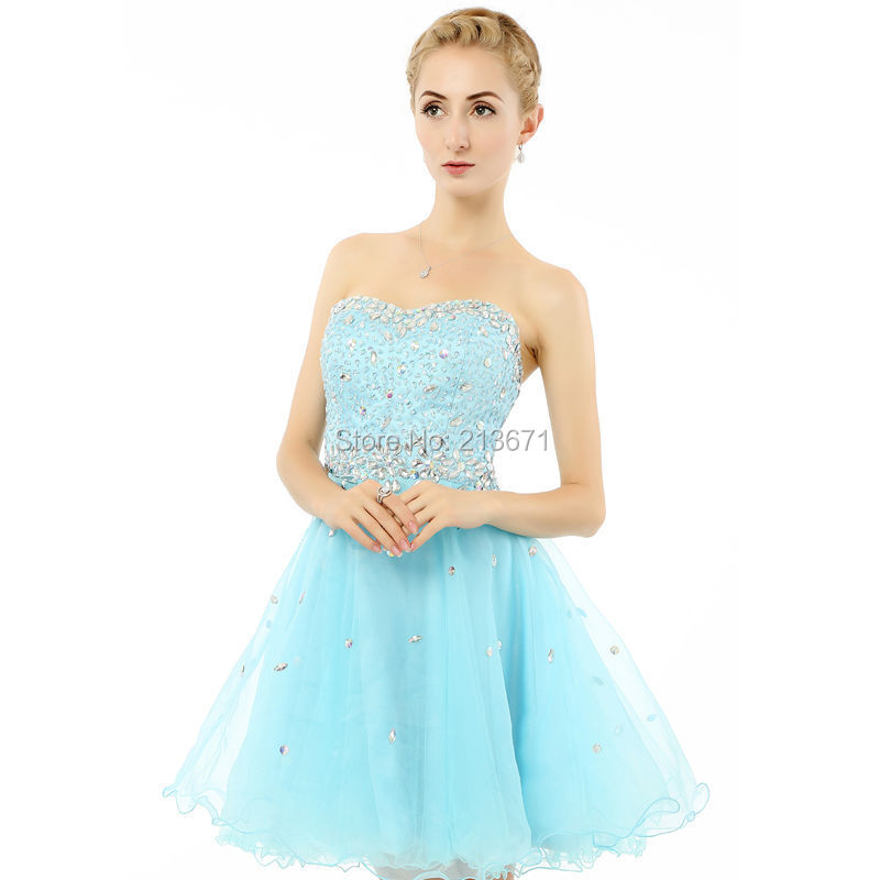 Baijinbai Slatka kratka večernja haljina 208 Til Crystal Beaded - Haljina za posebne prigode - Foto 5