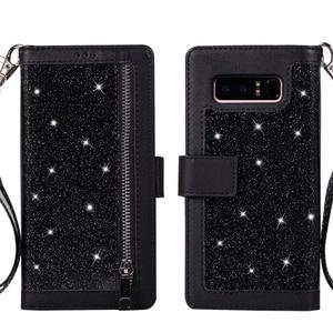 Image 2 - A51 A71 A40 A70 A50財布電話ケース銀河S20超S10プラスS9 S8 S10e S7エッジ注20 10 9 8フリップレザーケース