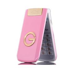Tkexun G3 женщин флип телефон с Камера Dual SIM карты 2.4 дюймов Сенсорный экран Роскошный сотовый телефон