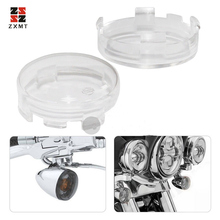 ZXMT 2pcs 2.1inch Amber Clear Smoke Turn Signal Light Cover Lens Fit for Harley Electra Glide Dyna Softail Sportster 1986-2014