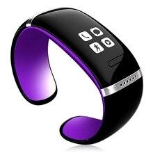 Топ предложения OLED Bluetooth умный браслет на запястье L12S для телефонов Android (фиолетовый черный/желтый, черный)