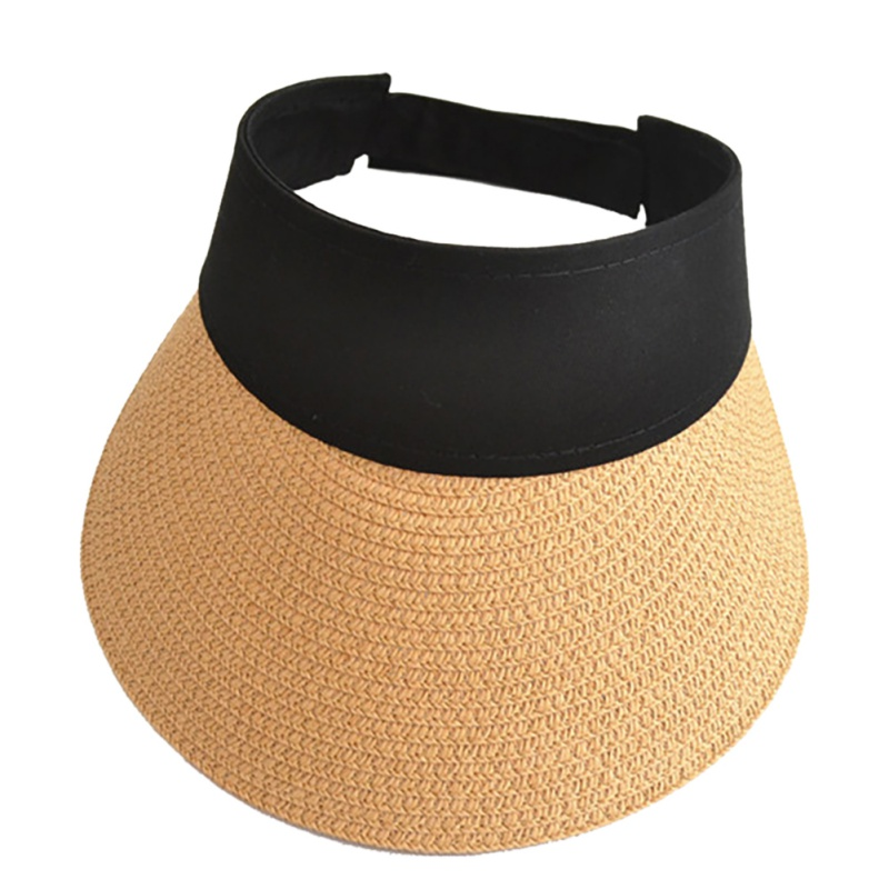 Sunhat Female Ladies Fashion Summer Straw Sun Visor Adjustable Empty Top Ponytail Vacation Travel Beach Caps(China)