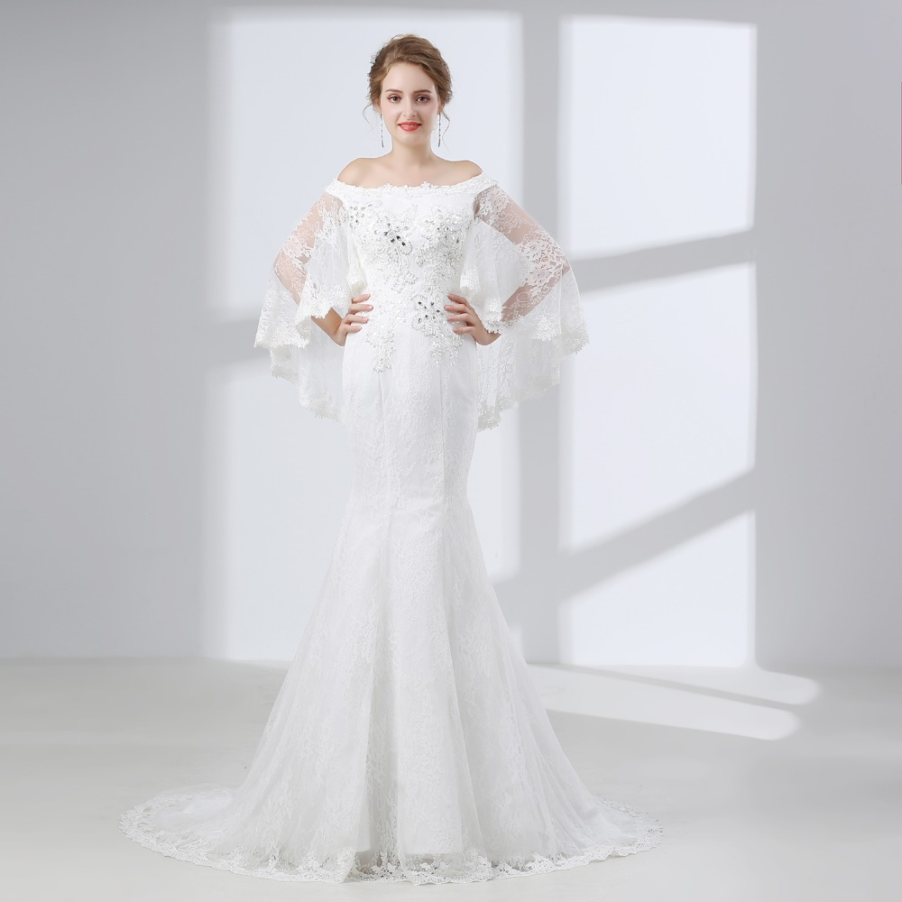 Elnorbridal Mermaid Lace Wedding Dresses 2018 Robe De Mariage ...