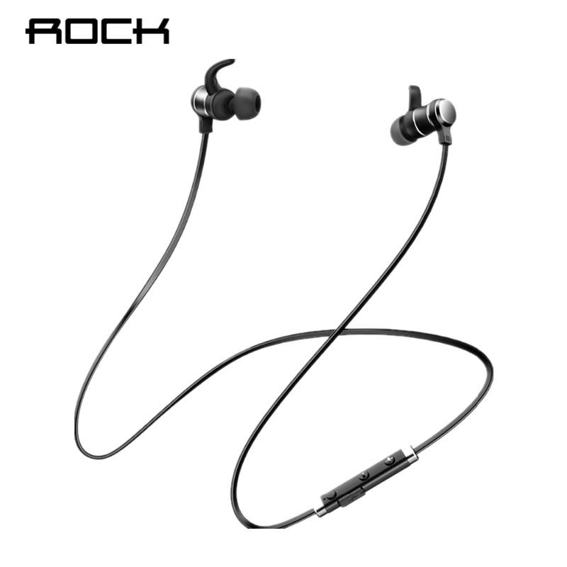 ROCK Bluetooth Earphones In-Ear Magnetic Neckband Headphone Sweat Waterproof For Running Budget Wireless Sleep Headsets
