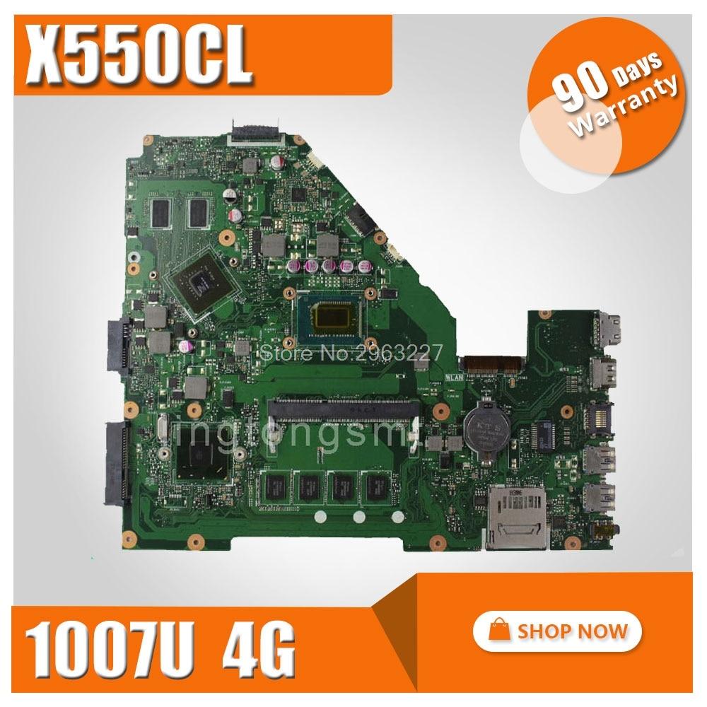 X550CL Motherboard 1007U/4GB For ASUS X552C R510C R510CC Y582C X550VB Laptop motherboard X550CL Mainboard X550CL Motherboard все цены