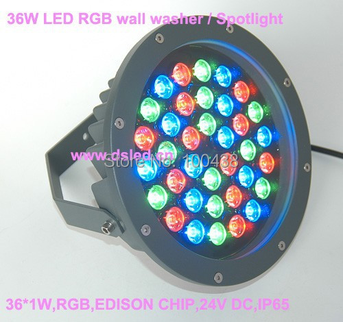 CE,good quality,high power 36W outdoor LED RGB spotlight,RGB wall washer,36*1W,EDISON chip,24V DC,constant voltage,DS-TN-13 free shipping to north america rgb 3in1 super thin led wall washer 24x3w dc 24v 4wires 10pcs lot used for commercial decoration