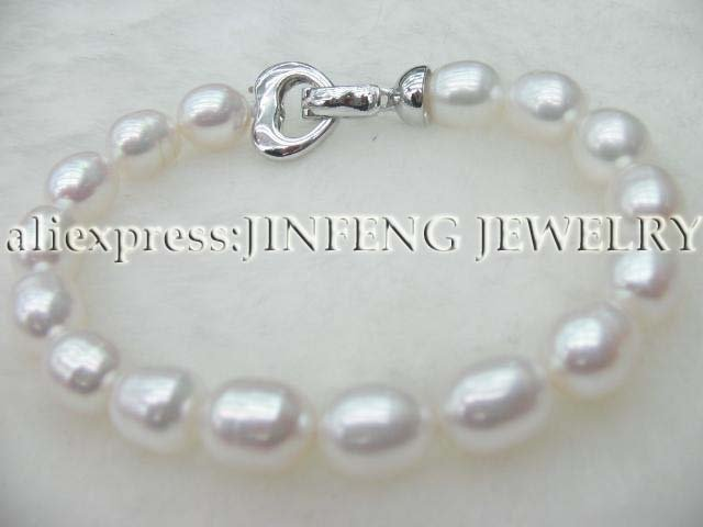 Free shipping High quality white freshwater pearl Bracelet
