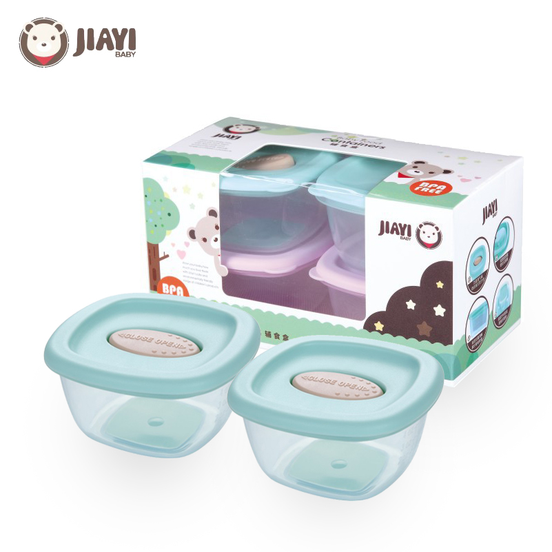 Four Lattices Baby Portable Milk Powder Container Food Storage Box Convenient Cute Design Infant Dispenser Container BPA Free
