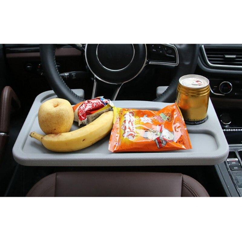 Автомобиль Портативный мини стол Тетрадь подставка держатель нескольких на заднем сиденье для ноутбука руль компьютер Еда пить держатель ...