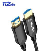 HDMI Cable 2.0 Fiber Optic Cable Gold Plated Support 3D 60HZ 18Gbps Transmission Distance Of More Than 100 Meters Radiation Free