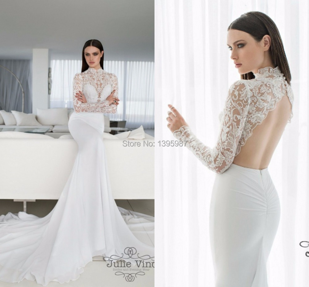 white lace wedding dress all white wedding dress Simple Spaghetti Straps Sweep Train Backless Wedding Dress with Appliques