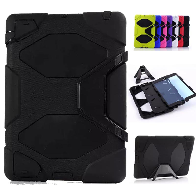 new Case For Apple iPad2 iPad3 iPad4 Kids Safe Armor Shockproof Heavy Duty Silicon+PC Stand Back Case Cover For ipad 2 3 4 ...