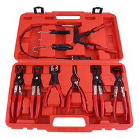 9pcs/set Bundle Set Car Auto Auto Special Repair Tools Vehicles Disassembly Clamp Straight Throat Tube Clamp Pliers Accessory