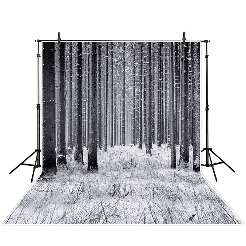 Grey Wood Forest Backdrops for Photography 5x7ft White Snow Photo Background Backdrops for Studio Professional Photo Booth Props heide schatten cell and molecular biology and imaging of stem cells