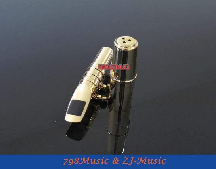 B2 modèle 7 #-embout Saxophone ténor professionnel en métal plaqué or