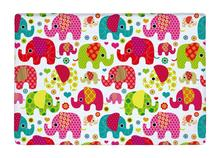 Floor Mat Colorful Seamless Retro Elephant Kids Print Non-slip Rugs Carpets alfombra For Indoor Outdoor living kids room