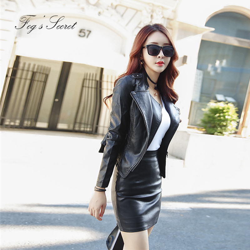 Women Clothers PU Leather Jacket Soft Leather Coat Slim Personality Irregular Zipper Motorcycle Cool Jackets