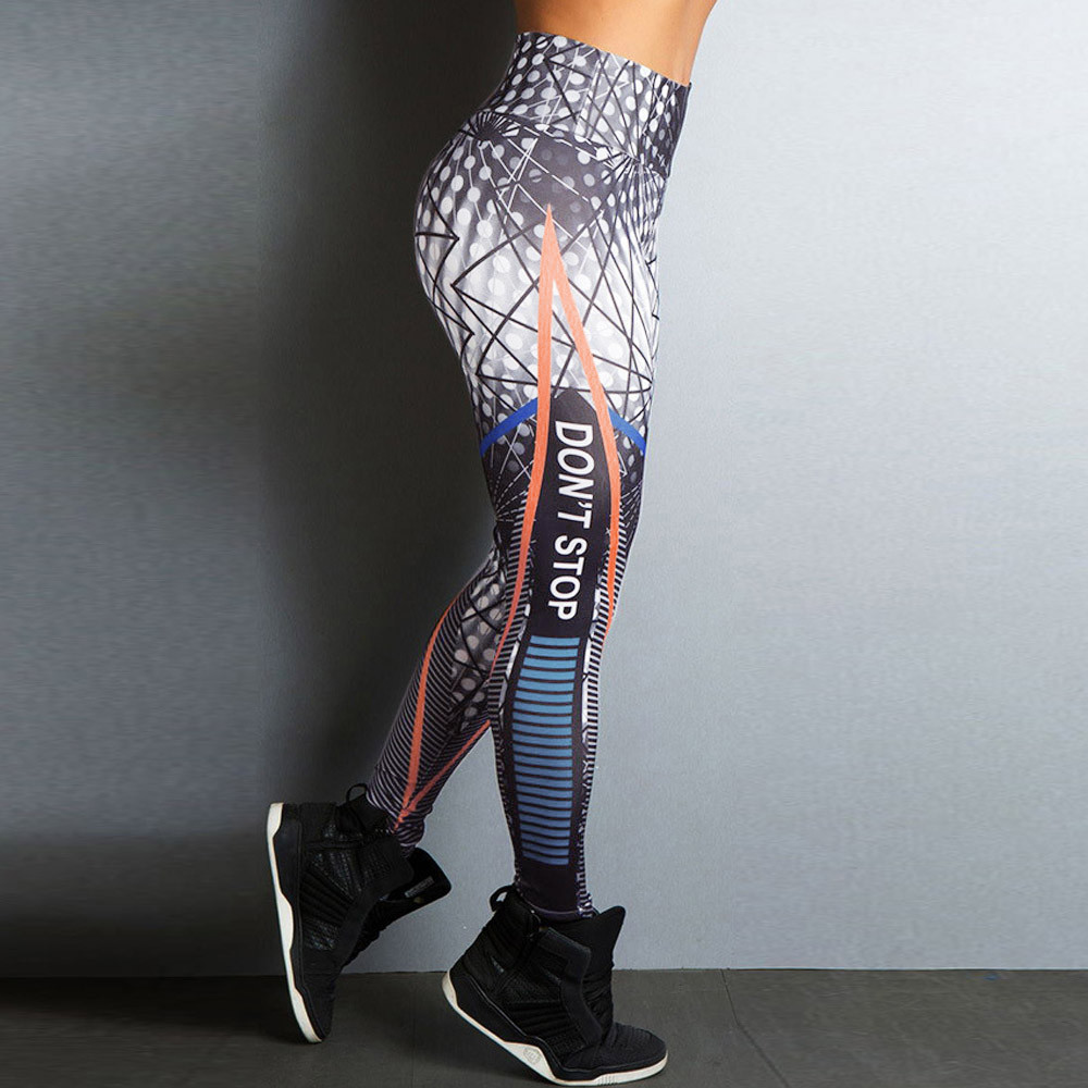 Hot Sale Women High Waist Fitness   Leggings   Stretch Sports Pants Insert Mesh Design Trousers Roupa Academia