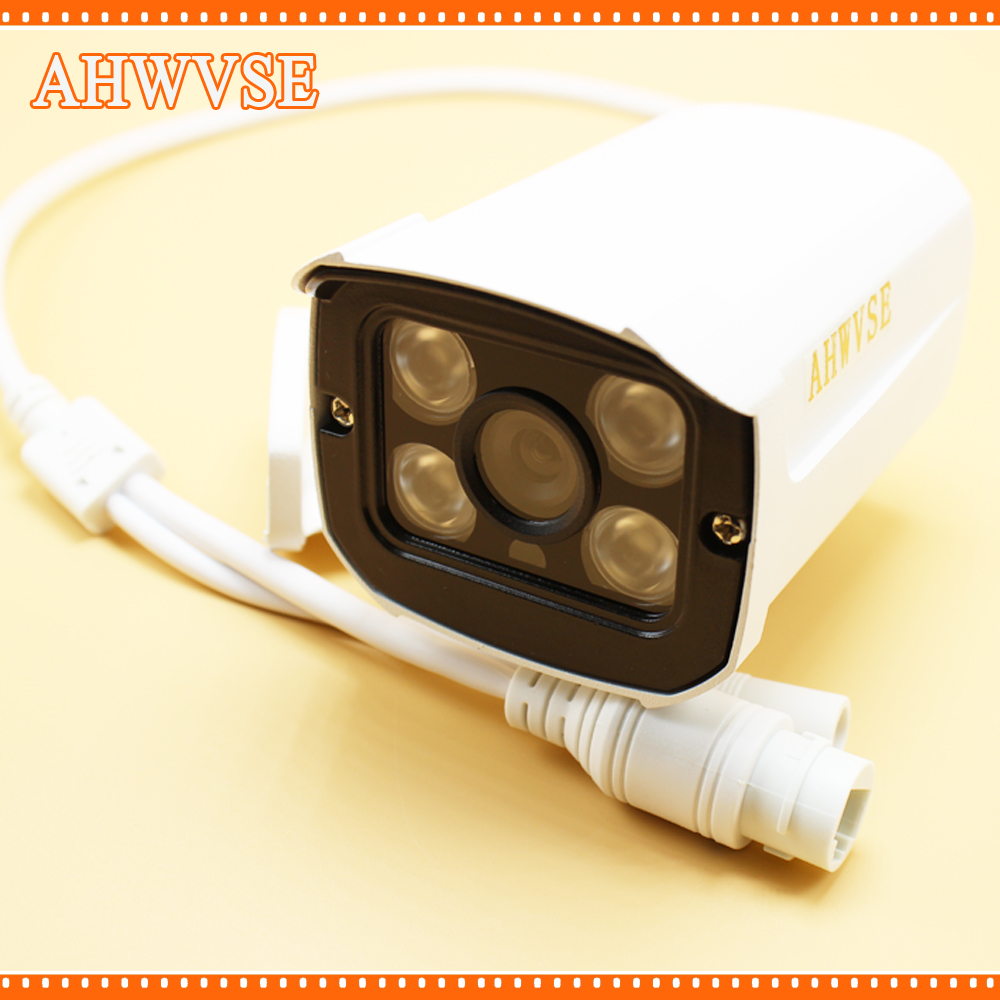 AHWVSE POE 1080P 2MP Bullet IP Camera Outdoor Security CCTV 48V PoE Optional P2P H.264 Motion Detection ONVIF seeyou 2mp 1 2 8 cmos waterproof outdoor bullet ip camera 1080p poe security camera cctv 2pcs array infrared led board camera