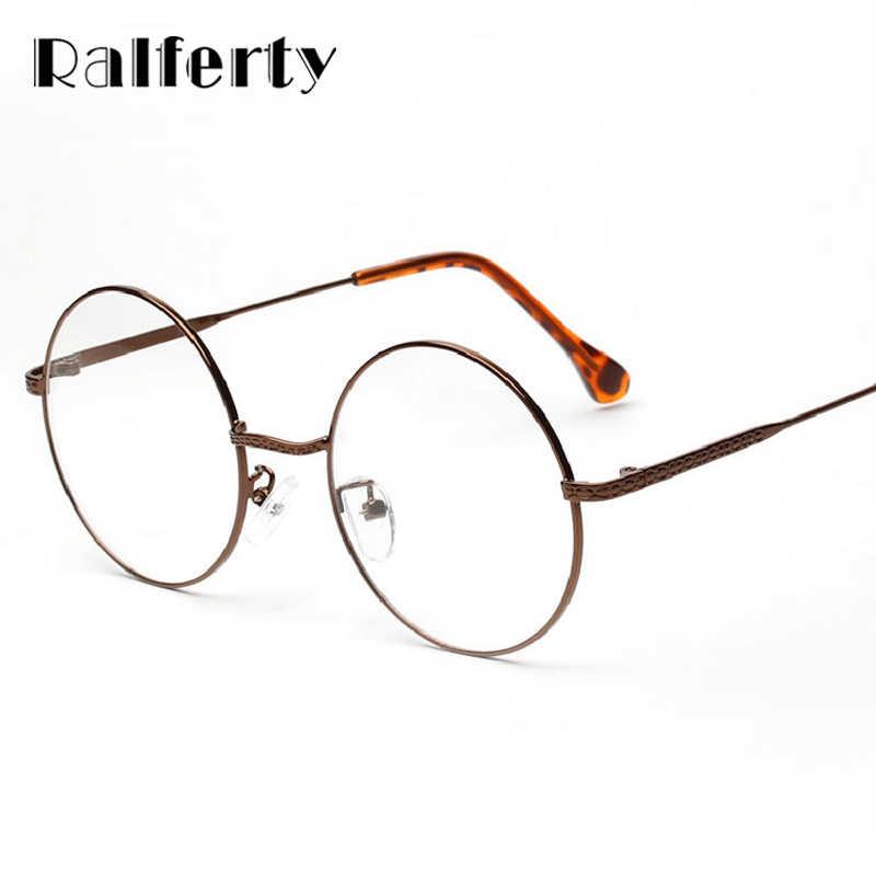 a5031ab250 Detail Feedback Questions about Ralferty Vintage Round Eyeglasses Frame  Clear Transparent Glasses Women Men Retro Eyewear Accessories Optical Frames  Oculo ...