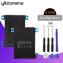 YILIZOMANA For iPad mini 4 Battery 5124mAh Li-ion Internal Original Replacement Battery A1538 A1546 A1550 with Tools yilizomana for ipad air 2 battery 7340mah li ion internal original replacement battery for ipad 6 air 2 a1566 a1567 with tools