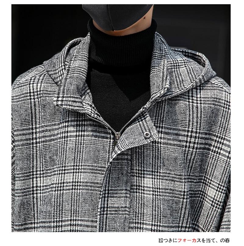 Male Long Coat Oversize Lapel Button Sobretodos Hombre Overcoat Streetwear (35)